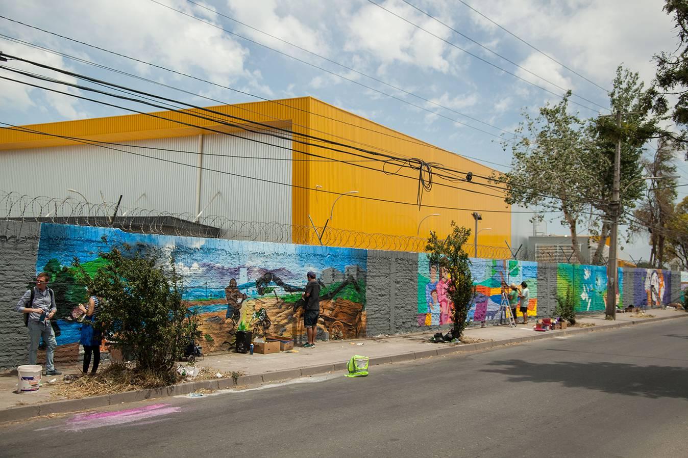 Megacentro consolida el primer museo a cielo abierto de Cerro Navia